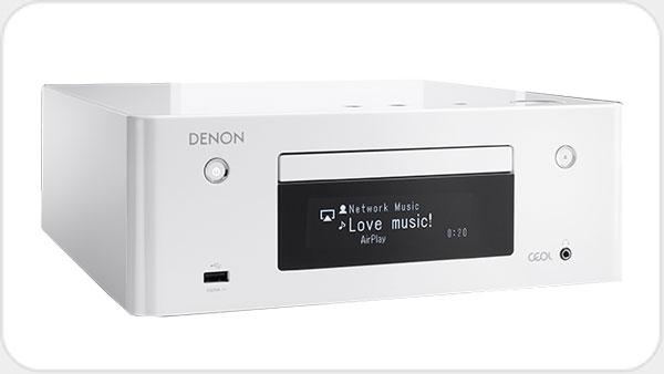 Denon RCD N9 Netzwerk CD-Receiver mit WLAN *weiss*
