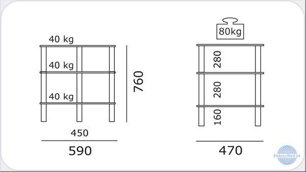 spectral just racks r 590 hifi rack aluminium schwarzglas. Black Bedroom Furniture Sets. Home Design Ideas