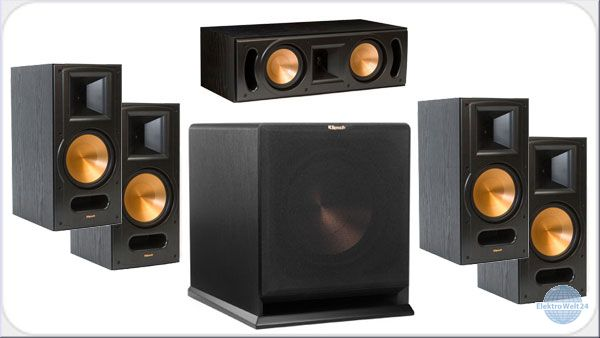 klipsch 5 1 set rb81 mkii rp250c r112sw schwarz. Black Bedroom Furniture Sets. Home Design Ideas