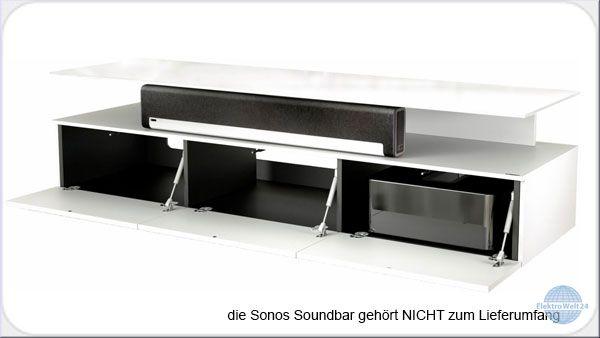Spectral Just Racks Jrm 1650 Sng Tv Mobel Fur Soundbars Snowglass Weiss Elektrowelt24 De
